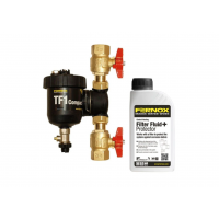 Pachet Filtru Fernox TF1 Compact + robineti + Fernox Filter Fluid+ Protector, 3/4